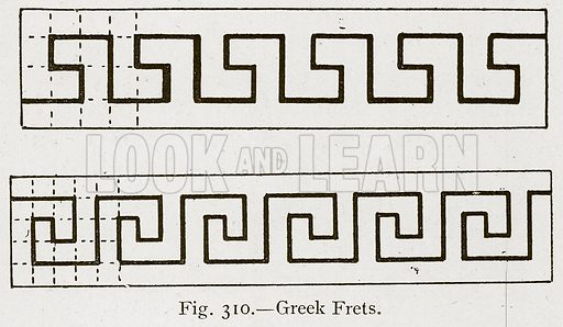 Greek Frets. Illustration for Historic Ornament by James Ward (Chapman and Hall, 1897).