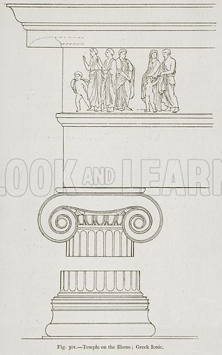 Temple on the Ilissus; Greek Ionic. Illustration for Historic Ornament by James Ward (Chapman and Hall, 1897).