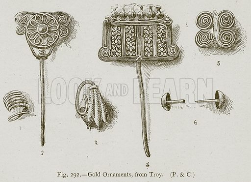 Gold Ornaments, from Troy. Illustration for Historic Ornament by James Ward (Chapman and Hall, 1897).