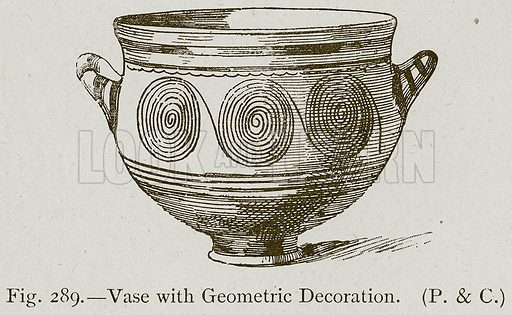 Vase with Geometric Decoration. Illustration for Historic Ornament by James Ward (Chapman and Hall, 1897).