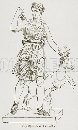 Diana of Versailles. Illustration for Historic Ornament by James Ward (Chapman and Hall, 1897).