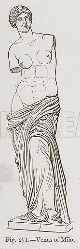 Venus of Milo. Illustration for Historic Ornament by James Ward (Chapman and Hall, 1897).