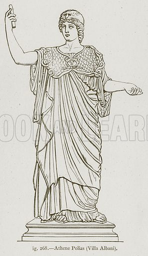 Athene Polias (Villa Albani). Illustration for Historic Ornament by James Ward (Chapman and Hall, 1897).