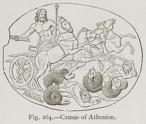 Cameo of Athenion. Illustration for Historic Ornament by James Ward (Chapman and Hall, 1897).