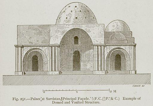 Palace at Sarvistan, Principal Facade. Illustration for Historic Ornament by James Ward (Chapman and Hall, 1897).