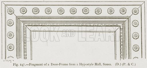 Fragment of a Door-Frame from a Hypostyle Hall, Sausa. Illustration for Historic Ornament by James Ward (Chapman and Hall, 1897).