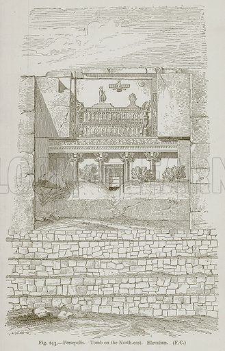 Persepolis. Tomb on the North-East. Elevation. Illustration for Historic Ornament by James Ward (Chapman and Hall, 1897).