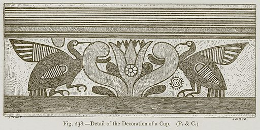 Detail of the Decoration of a Cup. Illustration for Historic Ornament by James Ward (Chapman and Hall, 1897).