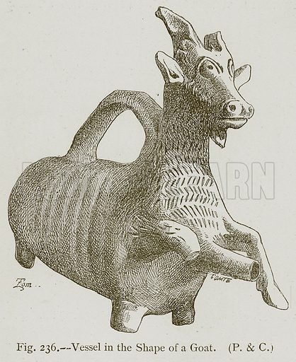 Vessel in the Shape of a Goat. Illustration for Historic Ornament by James Ward (Chapman and Hall, 1897).