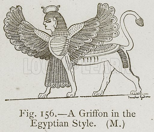 A Griffon in the Egyptian Style. Illustration for Historic Ornament by James Ward (Chapman and Hall, 1897).