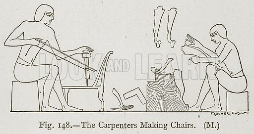 The Carpenters Making Chairs. Illustration for Historic Ornament by James Ward (Chapman and Hall, 1897).