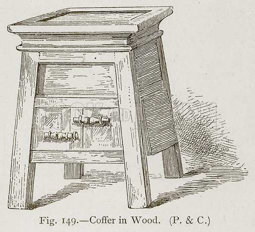 Coffer in Wood. Illustration for Historic Ornament by James Ward (Chapman and Hall, 1897).