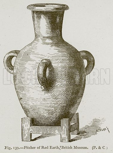 Pitcher of Red Earth, Brithish Museum. Illustration for Historic Ornament by James Ward (Chapman and Hall, 1897).