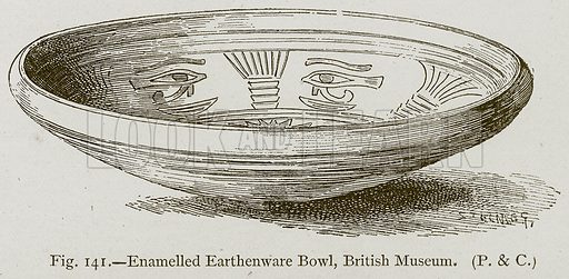 Enamelled Earthenware Bowl, British Museum. Illustration for Historic Ornament by James Ward (Chapman and Hall, 1897).