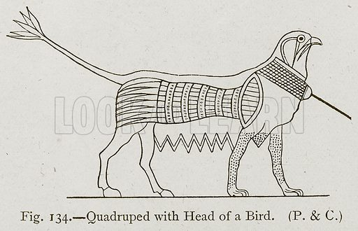 Quadruped with Head of a Bird. Illustration for Historic Ornament by James Ward (Chapman and Hall, 1897).