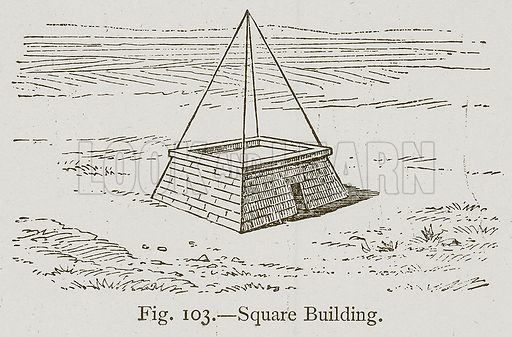 Square Building. Illustration for Historic Ornament by James Ward (Chapman and Hall, 1897).