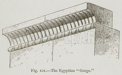 "The Egyptian ""Gorge."" Illustration for Historic Ornament by James Ward (Chapman and Hall, 1897)."