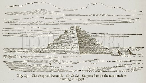The Stepped Pyramid. Supposed to be the most Ancient Building in Egypt. Illustration for Historic Ornament by James Ward (Chapman and Hall, 1897).