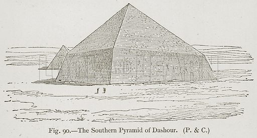 The Southern Pyramid of Dashour. Illustration for Historic Ornament by James Ward (Chapman and Hall, 1897).