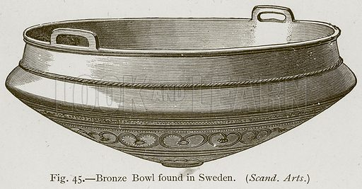 Bronze Bowl found in Sweden. Illustration for Historic Ornament by James Ward (Chapman and Hall, 1897).