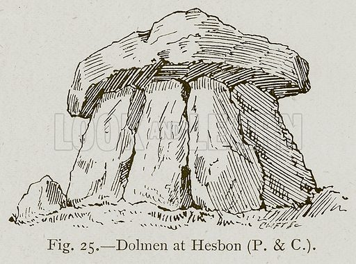 Dolmen at Hesbon. Illustration for Historic Ornament by James Ward (Chapman and Hall, 1897).