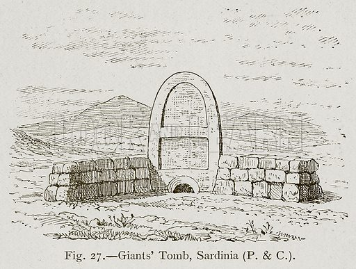 Giants' Tomb, Sardinia. Illustration for Historic Ornament by James Ward (Chapman and Hall, 1897).