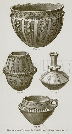 Pottery of the Neolithic Age. Illustration for Historic Ornament by James Ward (Chapman and Hall, 1897).