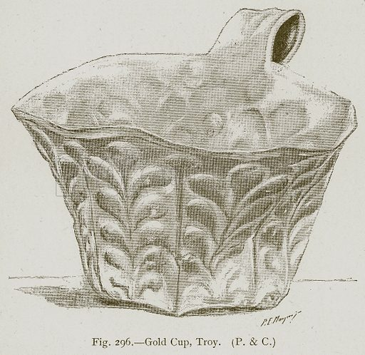 Gold Cup, Troy. Illustration for Historic Ornament by James Ward (Chapman and Hall, 1897).