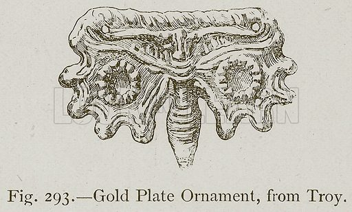 Gold Plate Ornament, from Troy. Illustration for Historic Ornament by James Ward (Chapman and Hall, 1897).
