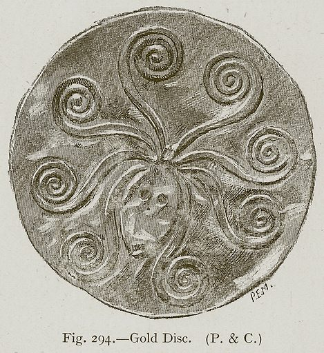 Gold Disc. Illustration for Historic Ornament by James Ward (Chapman and Hall, 1897).