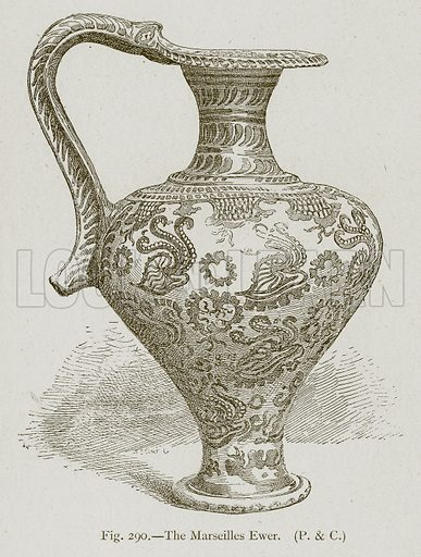The Marseilles Ewer. Illustration for Historic Ornament by James Ward (Chapman and Hall, 1897).