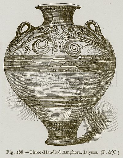 Three-Handled Amphora, Ialysos. Illustration for Historic Ornament by James Ward (Chapman and Hall, 1897).