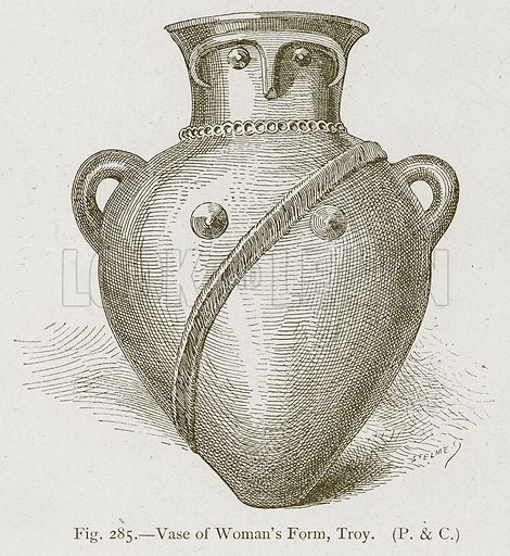 Vase of Woman's Form, Troy. Illustration for Historic Ornament by James Ward (Chapman and Hall, 1897).