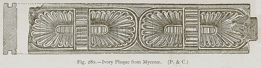 Ivory Plaque from Mycenae. Illustration for Historic Ornament by James Ward (Chapman and Hall, 1897).