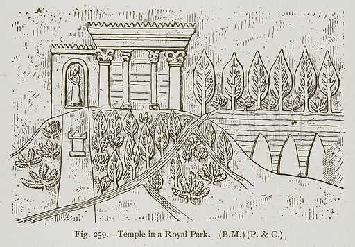 Temple in a Royal Park. Illustration for Historic Ornament by James Ward (Chapman and Hall, 1897).