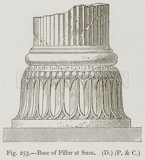 Base of Pillar at Susa. Illustration for Historic Ornament by James Ward (Chapman and Hall, 1897).