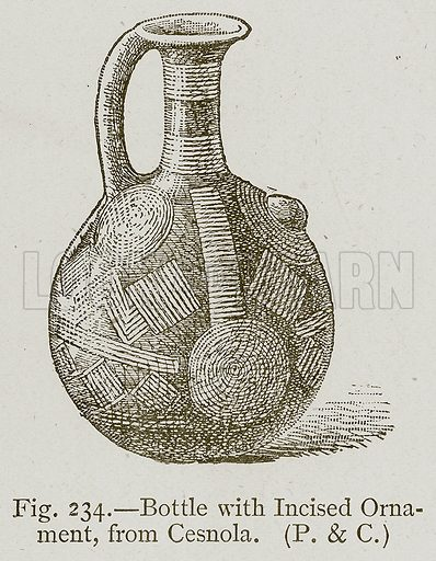 Bottle with Incised Ornament, from Cesnola. Illustration for Historic Ornament by James Ward (Chapman and Hall, 1897).