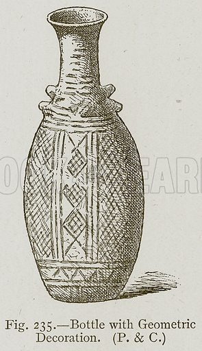 Bottle with Geometric Decoration. Illustration for Historic Ornament by James Ward (Chapman and Hall, 1897).