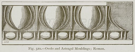 Ovolo and Astragal Mouldings; Roman. Illustration for Historic Ornament by James Ward (Chapman and Hall, 1897).