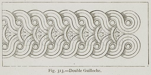 Double Guilloche. Illustration for Historic Ornament by James Ward (Chapman and Hall, 1897).