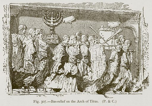 Bas-Relief on the Arch of Titus. Illustration for Historic Ornament by James Ward (Chapman and Hall, 1897).