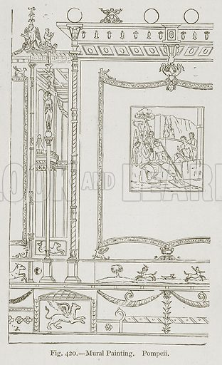 Mural Painting. Pompeii. Illustration for Historic Ornament by James Ward (Chapman and Hall, 1897).