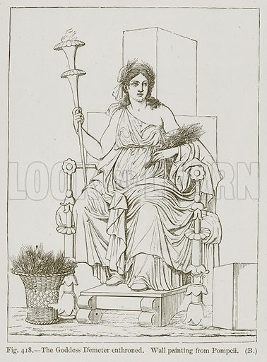 The Goddess Demeter Enthroned. Illustration for Historic Ornament by James Ward (Chapman and Hall, 1897).