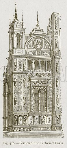 Portion of the Certosa of Pavia. Illustration for Historic Ornament by James Ward (Chapman and Hall, 1897).