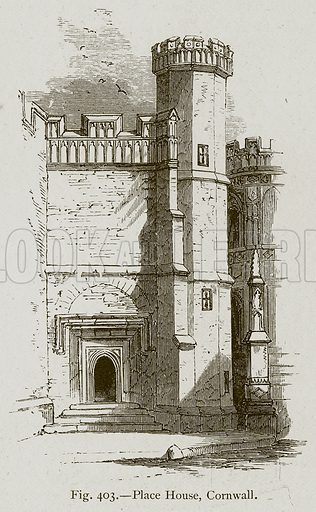 Place House, Cornwall. Illustration for Historic Ornament by James Ward (Chapman and Hall, 1897).
