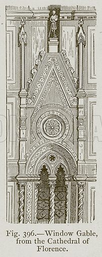 Window Gable, from the Cathedral of Florence. Illustration for Historic Ornament by James Ward (Chapman and Hall, 1897).