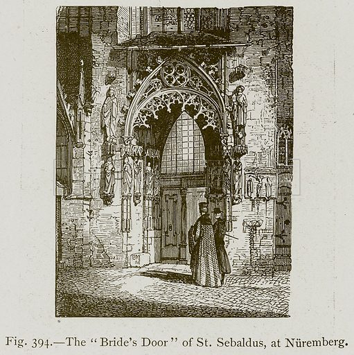 "The ""Birde's Door"" of St. Sebaldus, at Nuremberg. Illustration for Historic Ornament by James Ward (Chapman and Hall, 1897)."