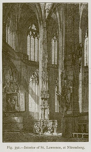 Interior of St. Lawrence, at Nuremberg. Illustration for Historic Ornament by James Ward (Chapman and Hall, 1897).