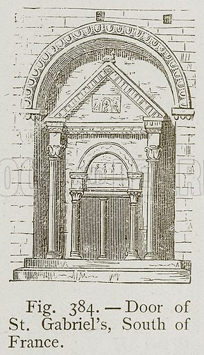Door of St Gabriel's, South of France. Illustration for Historic Ornament by James Ward (Chapman and Hall, 1897).