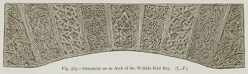 Ornament on an Arch of the Wekala Kait Bey. Illustration for Historic Ornament by James Ward (Chapman and Hall, 1897).